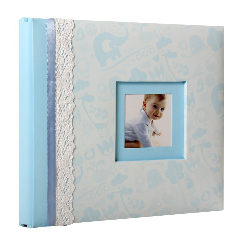 album photo de naissance baby history bleu pour 25 photos 10x15 cm. Black Bedroom Furniture Sets. Home Design Ideas