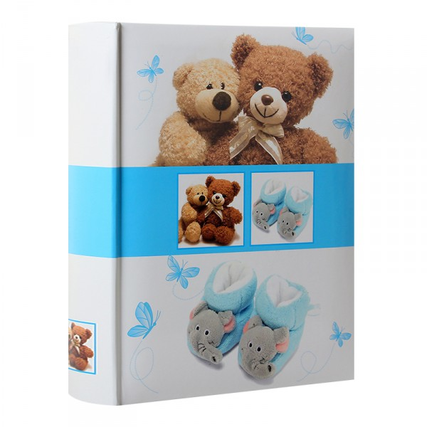 album photo naissance pochettes bear bleu pour 300 photos 10x15 cm. Black Bedroom Furniture Sets. Home Design Ideas