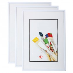 Cadre photo 10x15 cm (Blanc) - lot de 3