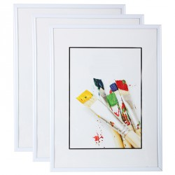 Lot de 3 cadres photo 15x21 cm blanc
