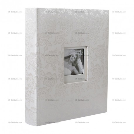 album photo mariage traditionnel fleurs roses 100 pages noires. Black Bedroom Furniture Sets. Home Design Ideas