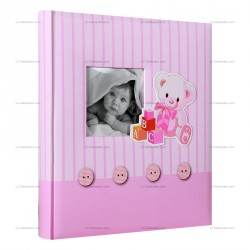 Album photo traditionnel naissance Memories 60 pages blanches