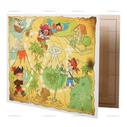 Cartonnage photo PIRATES : cartonnage scolaire 2 volets pour 13x18, 15x21 ou 18x24