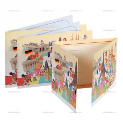 Cartonnage photo scolaire EUROPE , pour photo 13x18, 15x21, 18x24, 18x27, 20x30 cm