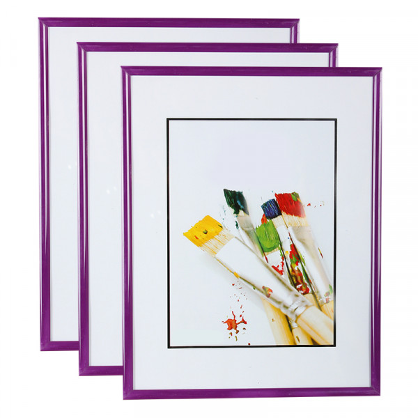Lot de 3 cadres photo 15x21 cm (violet)