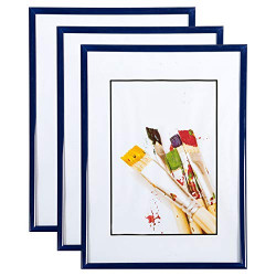 Lot de 3 cadres photo 15x21 cm (bleu)
