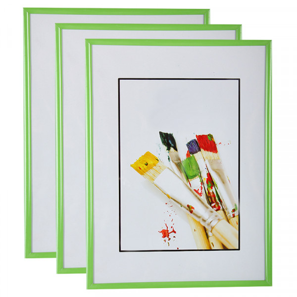 Lot de 3 cadres photo 15x21 cm (vert)