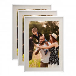 Lot de 3 cadres photo 13x18 cm (Blanc)