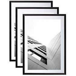 Lot de 3 Cadres photo 40x60 cm Noir