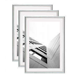 Cadre photo A3 Silver - lot de 3