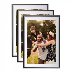 Cadre photo A4 Gris Anthracite Galeria - lot de 3
