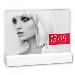 Cadre Photo double face Desda White 10x15 cm