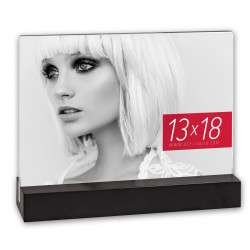 Cadre Photo double face Desda Black 10x15 cm