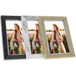 Cadres photo en bois A4 - lot de 3