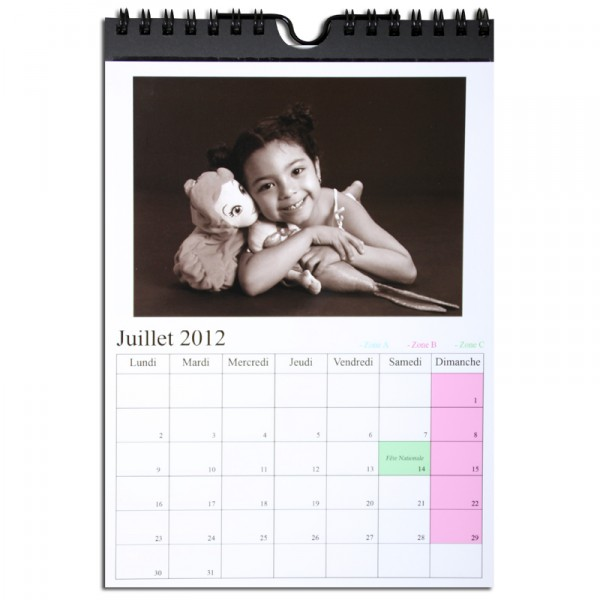 Recharge Calendrier Unibind 20x25