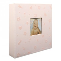 Album Photo Baby Nursery Rose 200 photos 10x15 cm en coffret