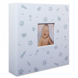 Album Photo Baby Nursery Bleu 200 photos 10x15 cm en coffret
