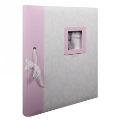 Album Photo Baby Traditionnal Rose 60 pages en coffret