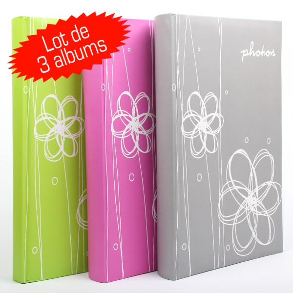 Lot de 3 Albums Photo Ellypse 300 photos 11.5x15 cm
