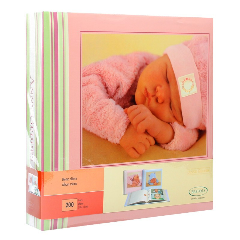 album photo b b pochettes nurseryroom pour 200 photos 10x15 cm rose. Black Bedroom Furniture Sets. Home Design Ideas