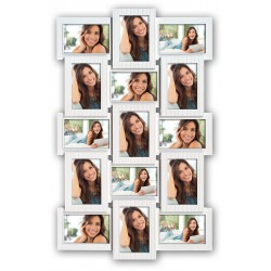 Cadre Photo Multivues Blanc 15 photos 10x15 cm