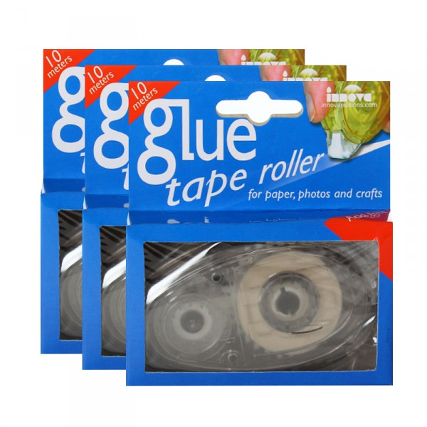 Lot de 3 Glue Tape Roller 10 mètres